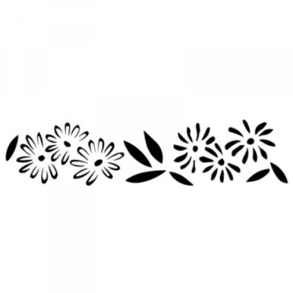 "Трафарет для декора рис. ""Цветы"" PQ 0309392"