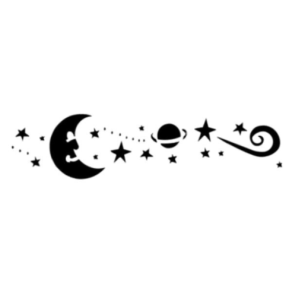 """Трафарет для декора рис. """"Звездное небо"""" PQ 0309394"""