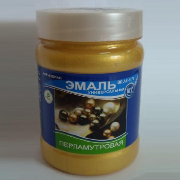 """Эмаль универсальная перламутровая """"Золото"""" 0,23кг (ВД-АК-1179)  VGT"""