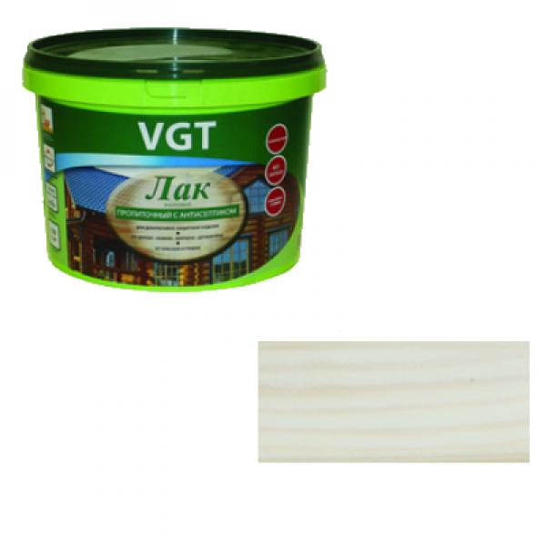 Лак акриловый пропиточный с антисептиком белый 0,9кг VGT (альб 2008)