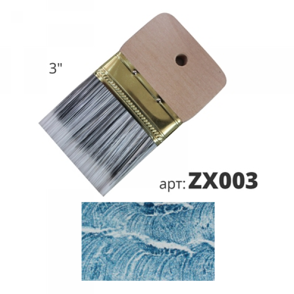 Кисть декоративная со смешанной щетиной 75мм ZX003