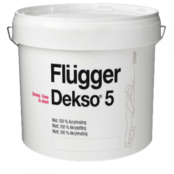 Краска акриловая для стен и потолков Dekso 5 base 1 0.75л FLUGGER 77130