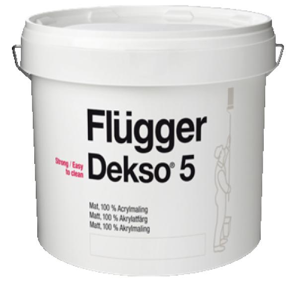 Краска акриловая для стен и потолков Dekso 5 base 4 2,8л FLUGGER 77135