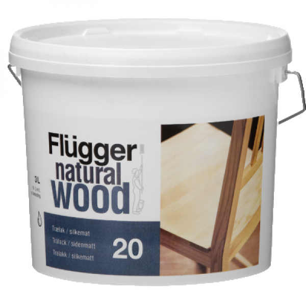 Лак мебельный матовый шелк Natural Wood Silkematt 20 3л FLUGGER 94819
