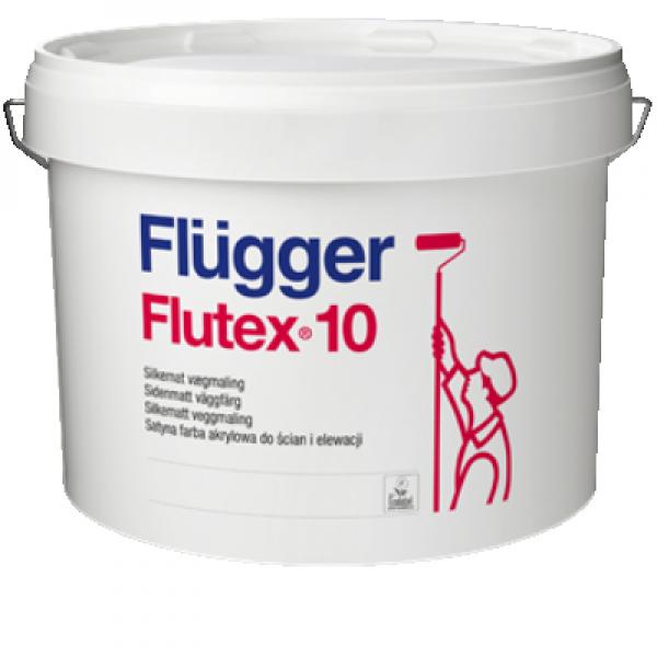 Краска акриловая для стен и потолков Flutex 10 base 4 9,1л FLUGGER 97300