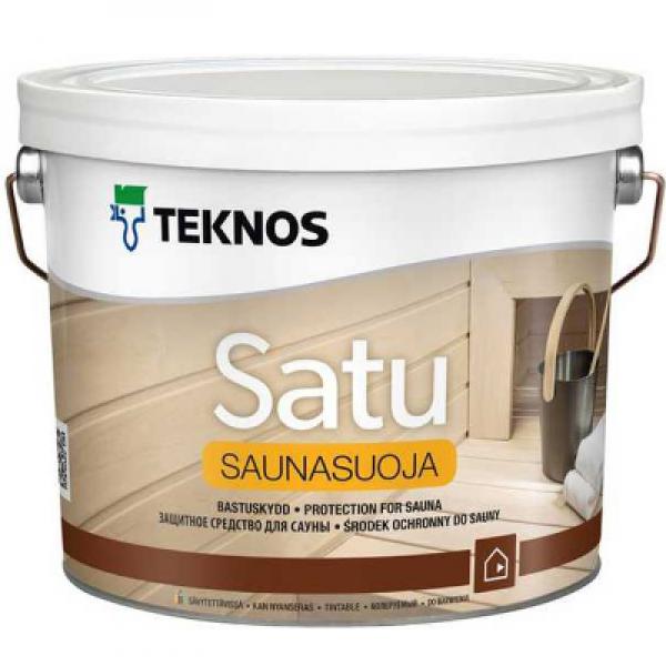 Защитное средство для сауны Satu Saunasuoja 2,7л TEKNOS (в упаковке 3шт)