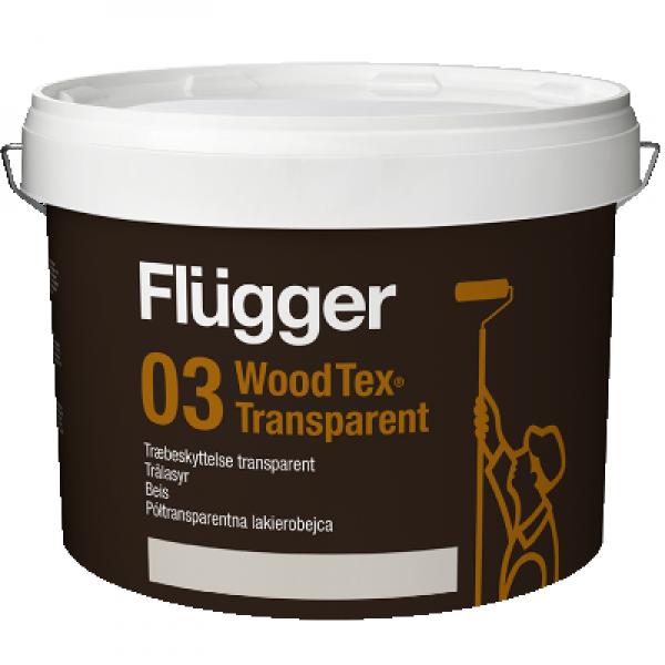 Покрытие-пропитка по дереву Wood Tex Transparent base 10 0.7л FLUGGER 43814