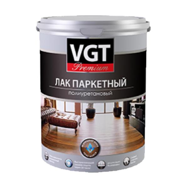 Лак паркетный полиуретановый глянцевый 0,9кг VGT Premium (в коробке 6шт)