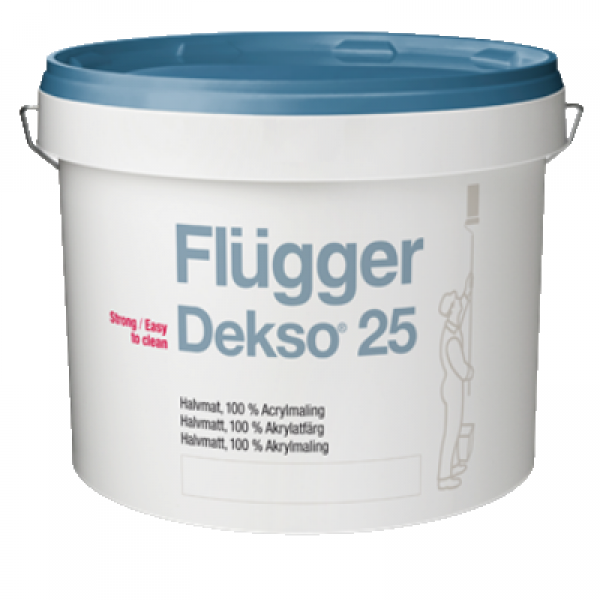 Краска акриловая для стен полуматовая Dekso 25 base 1 9.1л FLUGGER 98050