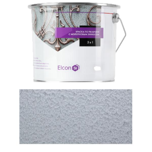 Краска кузнечная Smith 3 в 1 с молотковым эффектом серебро 0,8кг Elcon