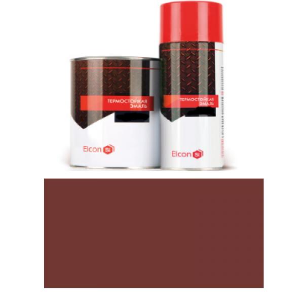 Эмаль термостойкая красно-коричневая (до 500 градусов) 0,8кг Elcon