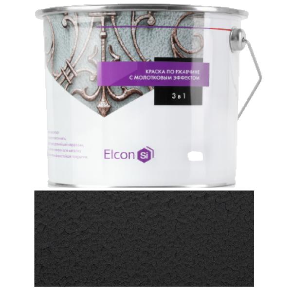 Краска кузнечная Smith 3 в 1 с молотковым эффектом черная 0,8кг Elcon