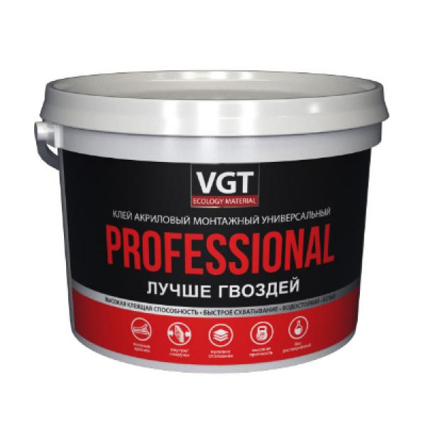 Клей акриловый монтажный универсальный белый Professional 3кг VGT