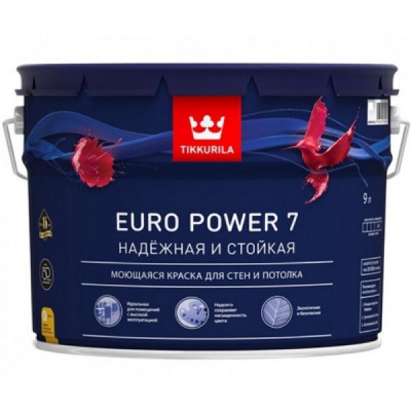 Краска для стен и потолков моющаяся EURO POWER 7 A 9л TIKKURILA