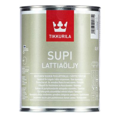 Масло для деревянных полов сауны SUPI LATTIAOLJY EC 0,9л TIKKURILA