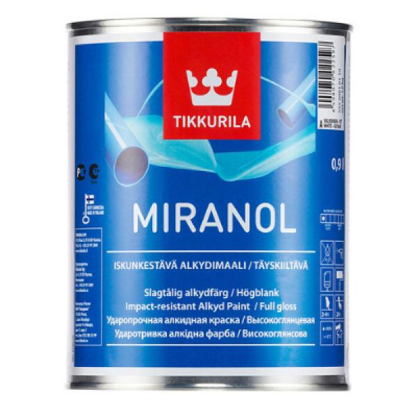 Эмаль алкидная ударопрочная высокоглянцевая MIRANOL A 0,9л TIKKURILA
