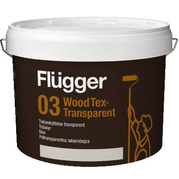 Покрытие-пропитка по дереву Wood Tex Transparent base 11 9,1л FLUGGER 43821