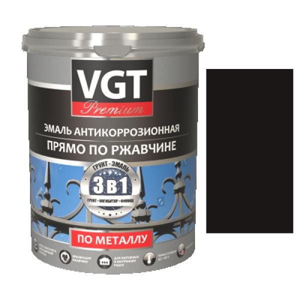 Грунт-эмаль по ржавчине 3в1 темно-коричневая  2,5кг (ВД-АК-1179) VGT(в коробке 4шт)
