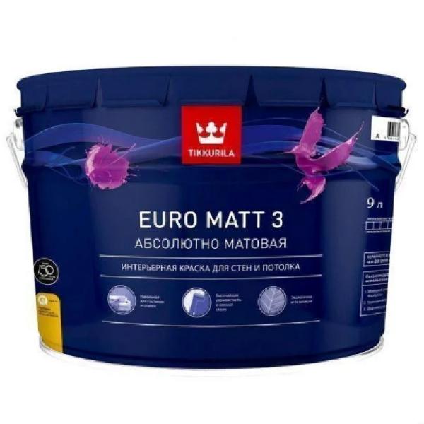Краска интерьерная EURO MATT 3 A 9л TIKKURILA