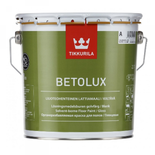 Краска уретано-алкидная для бетонных и деревянных полов Betolux A 0,9л TIKKURILA
