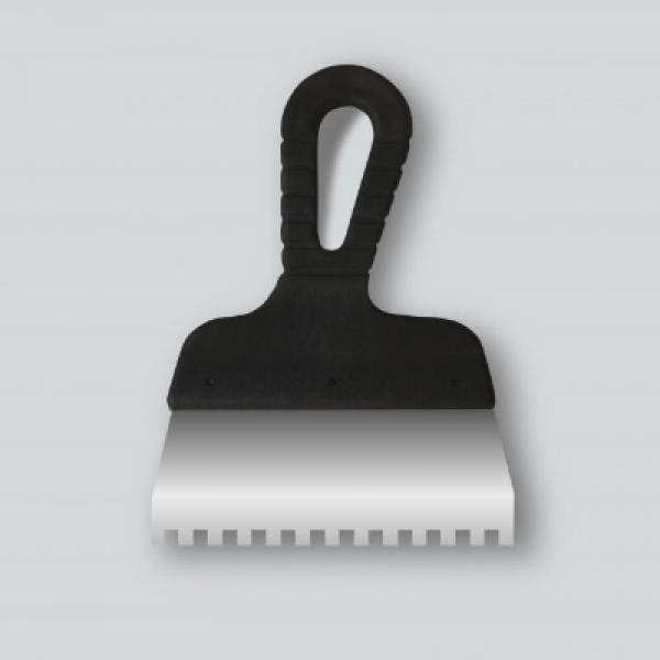 Шпатель зубчатый 150 мм, зуб 6х6 мм, нержавеющий DECOR 311-2150