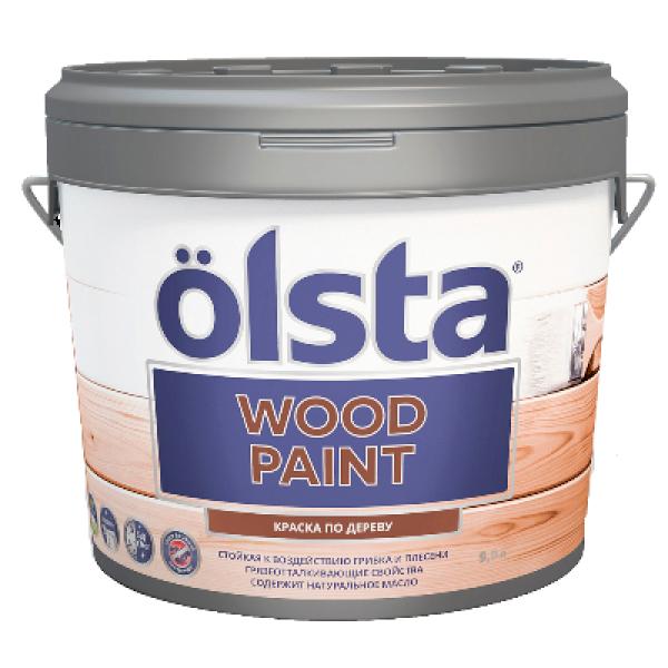 Краска по дереву Wood PAINT база А 2,7л OLSTA OWDA-27