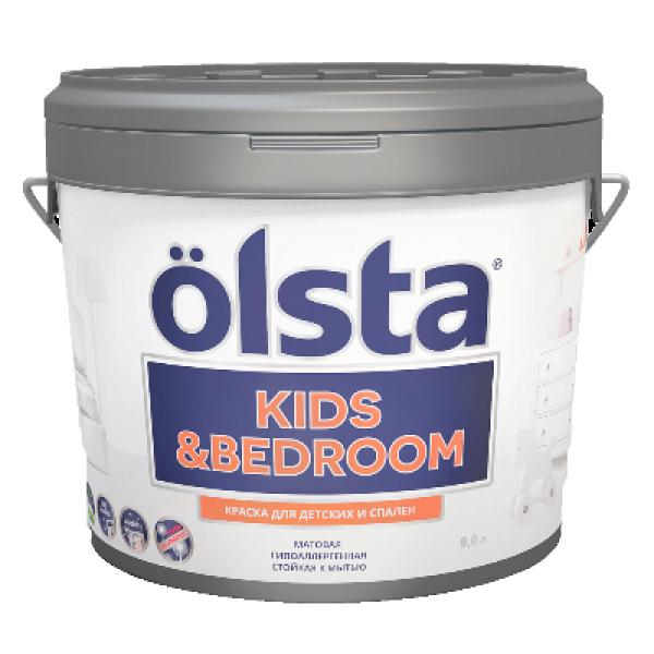 Краска для детских и спален Kids&bedroom база А 0,9л OLSTA OKRA-09