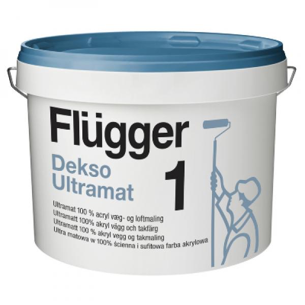 Краска акриловая для стен и потолков Dekso Ultramat 1 base 1 2,8л FLUGGER 11046