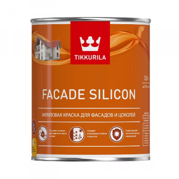 Краска акриловая для фасадов и цоколей FACADE SILICON база VVA 0,9л TIKKURILA