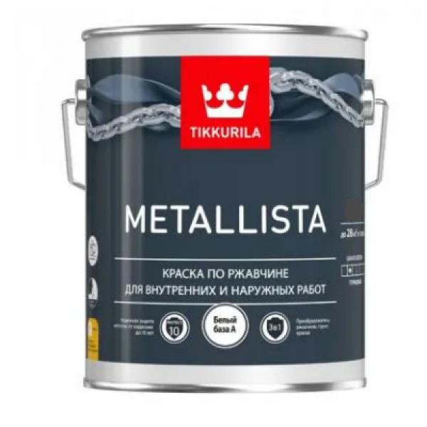 Краска по ржавчине METALLISTA гл 0,9л С TIKKURILA