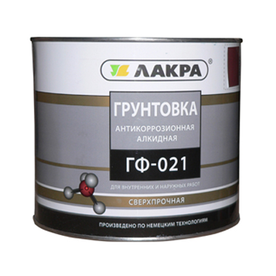 Грунт ГФ-021 красно-коричневый 2,5кг ЛАКРА