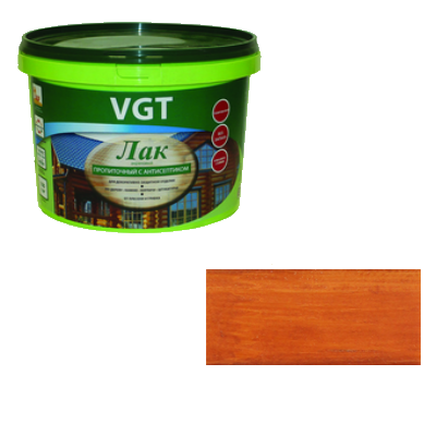 Лак акриловый пропиточный с антисептиком калужница 0,9кг VGT (альб 2008)