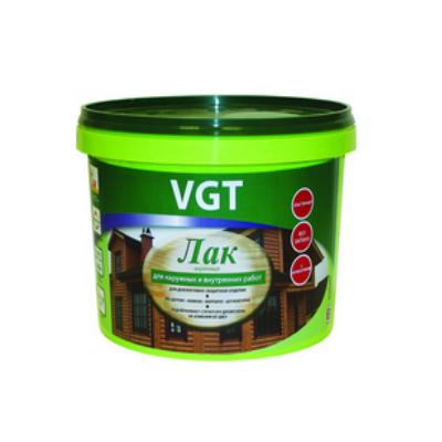 Лак акриловый для наружных и внутренних работ матовый бесцветный 9кг VGT