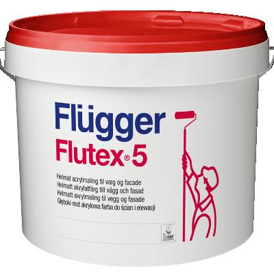 Краска акриловая для стен и потолков Flutex 5 base 1 4.9л FLUGGER 41842