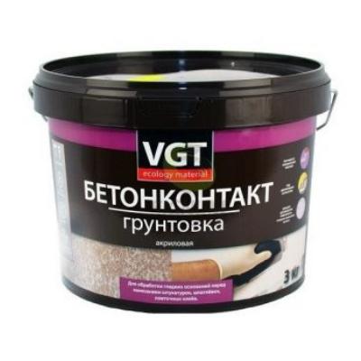 Грунтовка Бетонконтакт белая 3кг VGT