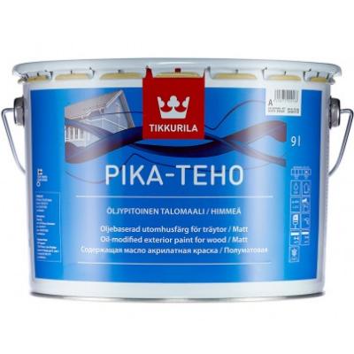 Краска для деревянных фасадов матовая PIKA-TEHO A 9л TIKKURILA