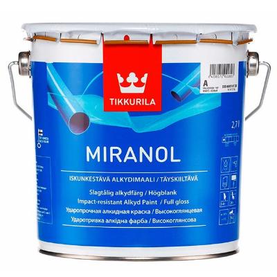 Эмаль алкидная ударопрочная высокоглянцевая MIRANOL A 2,7л TIKKURILA