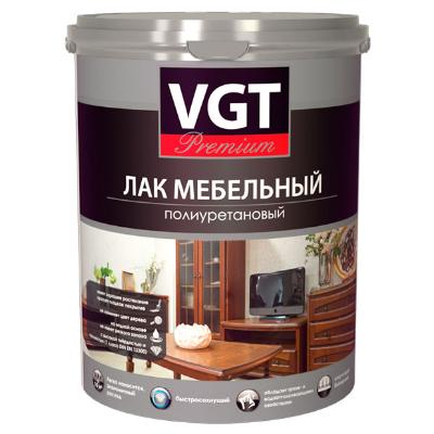Лак для мебели полиуретановый глянцевый 0,9кг VGT Premium (в коробке 6шт)