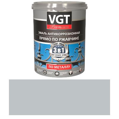 Грунт-эмаль по ржавчине 3в1 серая  1кг (ВД-АК-1179) VGT(в коробке 6шт)