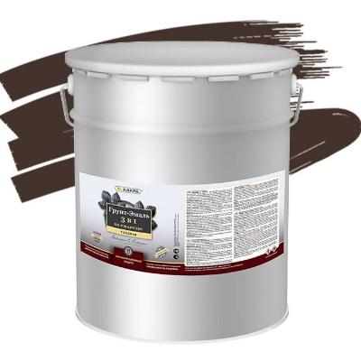Грунт-эмаль 3в1 шоколадно-коричневая  RAL8017 15кг ЛАКРА