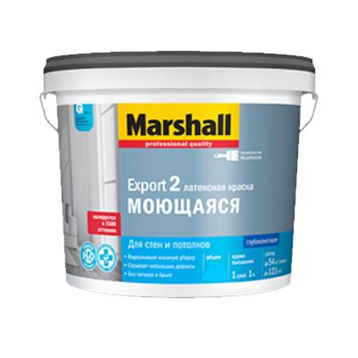 Краска Export-2 глубокоматовая BW 4,5л MARSHALL