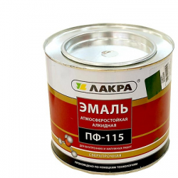 Эмаль ПФ-115 белая 1,9кг ЛАКРА