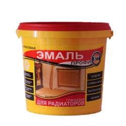 """Эмаль акриловая для радиаторов супербелая """"Профи"""" 1кг  VGT"""