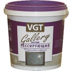 """Состав лессирующий """"Gallery"""" полупрозрачный серебристо-белый, 0,9 кг VGT (в упаковке 6 шт)"""