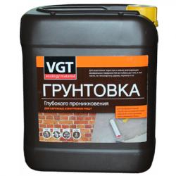 Грунтовка глубокого проникновения для внутренних и наружных работ 5кг VGT