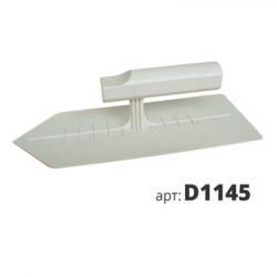 Кельма пластиковая остроугольная Венеция белая D1145