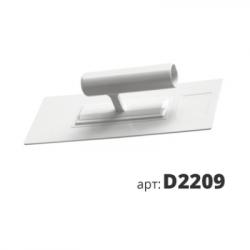 Кельма пластиковая прямоугольная белая D2209