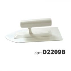 Кельма пластиковая остроуголная белая D2209B