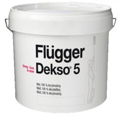 Краска акриловая для стен и потолков Dekso 5 base 4 9.1л FLUGGER 77134