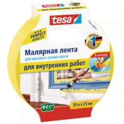Лента малярная для гладких поверхностей 25ммх25м tesa 56245